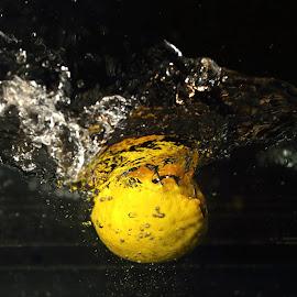 lemmonsplash by Alessandra Antonini - Food & Drink Fruits & Vegetables ( lemmon, yellow, water, splash,  )