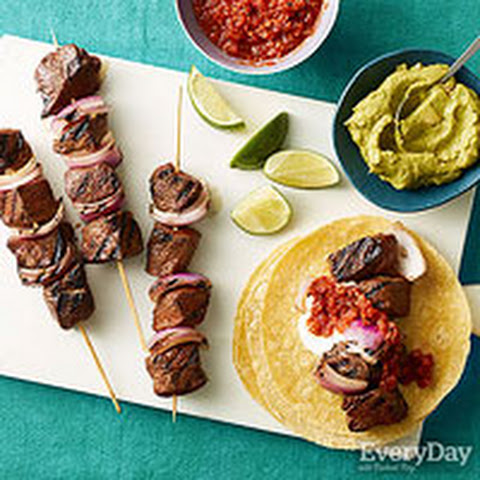 Fajitas on a Stick