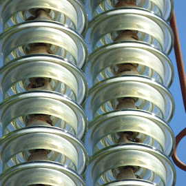 insulators by Nick Parker - Abstract Patterns ( pylon, insulators, electricity )