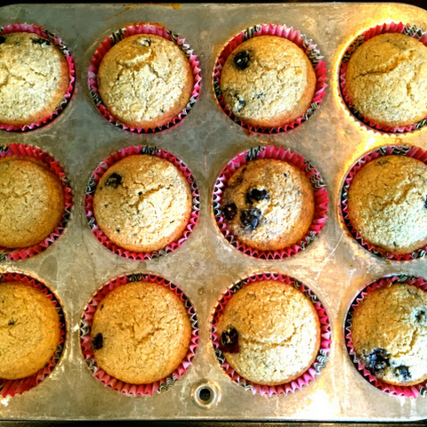 Oat Bran Blueberry Muffins
