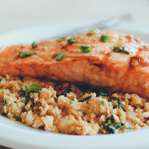 Garlic and Ginger Salmon with Cauliflower Rice