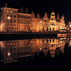 by Stephanie Veronique - Uncategorized All Uncategorized ( water, reflection, building, european, europe, waterscape, belgium, architecture, shapes, city,  )