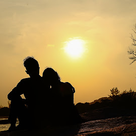 couple by Putra Dian - People Couples ( sunset, bangka belitung island,  )