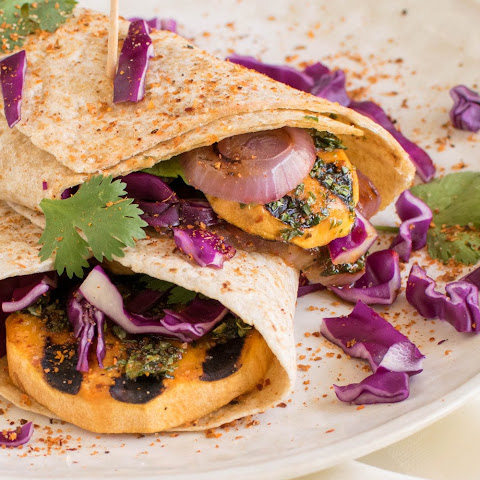 Grilled Sweet Potato Wraps [Vegan]