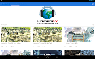Screenshot of AudioGuide2Go.com