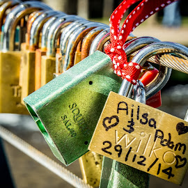 Locked in love by Nick Foster - Artistic Objects Other Objects ( love, lock, romantic, bridge, romance )