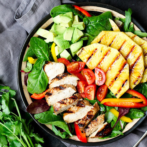 Hawaiian Chicken Salad with Coriander-Lime Vinaigrette