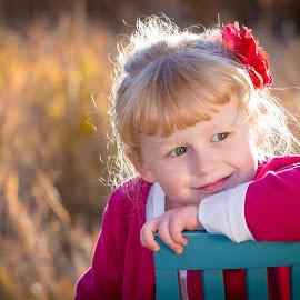 Smile by Richard States - Babies & Children Child Portraits ( child, backlit, smile, bokeh, portrait )