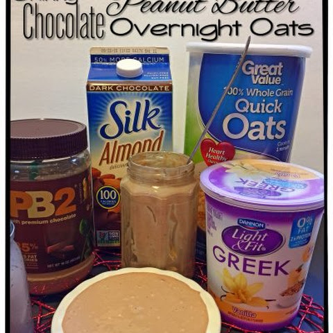 Skinny (No Bake) Chocolate Peanut Butter Overnight Oats