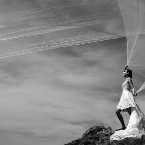 Bride by Foto Zrak - Wedding Bride ( srbija, wedding photography, black and white, beautiful, wedding dress, d810, nature, wedding, weddings, wedding day, foto zrak, kruševac, wedding photographer, bride, nikon )