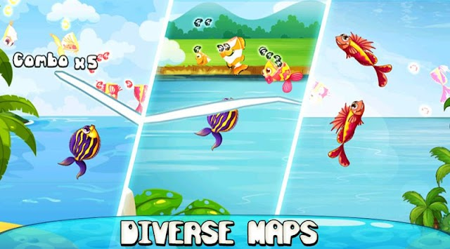 Ninja Fish – Fishing Cut, Fish Cutting Games APK screenshot thumbnail 1