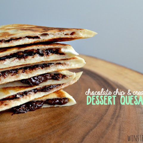 Chocolate Chip Cream Cheese Dessert Quesadillas