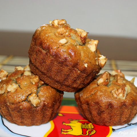 Eggless Banana Muffin / Vegan Banana Muffins