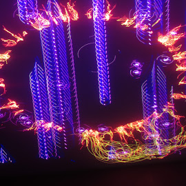 Fire and ice by Jim Barton - Abstract Patterns ( laser light, colorful, light design, fire and ice, ice, laser design, laser, laser light show, light, fire, science )