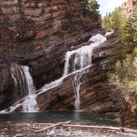 Cameron Falls by Jeffrey  Thur - Landscapes Waterscapes ( alberta, waterton, waterfall, cameron falls, summer )