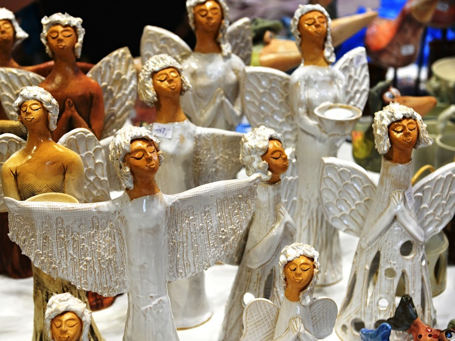 Christmas Angels are coming. by Marcel Cintalan - Artistic Objects Other Objects ( porcelain, wings, christmas, happiness, figures, angels )