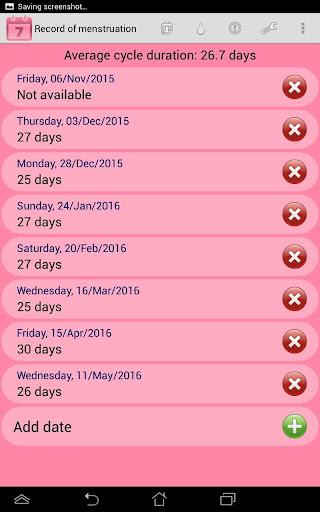 Menstrual Ovulation Calendar - screenshot