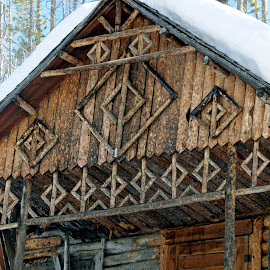 Old cabin detail by Marko Ginsberg - Buildings & Architecture Architectural Detail ( cabin, detail, old wood )