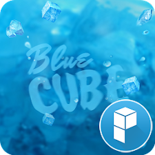 Blue Cube launcher theme