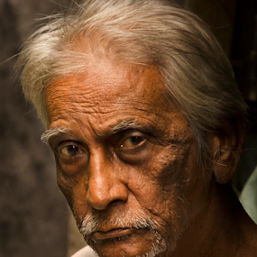 Old Man by Ajay Halder - People Portraits of Men (  )