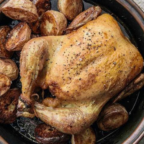 Simple Roast Chicken and Potatoes