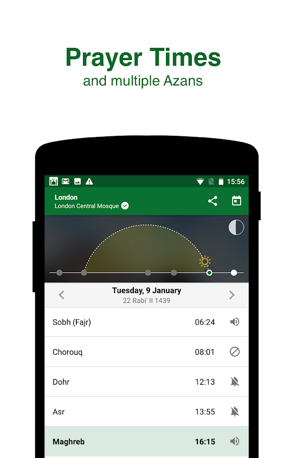 Muslim Pro - Prayer Times, Azan, Quran & Qibla Screenshot 1