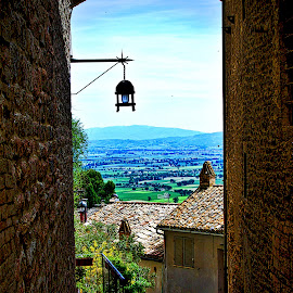 Tuscany by Jim Antonicello - City,  Street & Park  Historic Districts ( hills, tuscany, lamp )