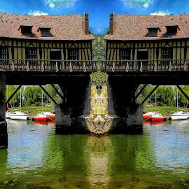 Double bridge after double drink by Gérard CHATENET - Digital Art Places