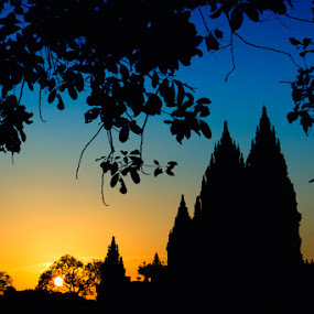 Prambanan tample Shillouette by Budi Risjadi - Travel Locations Landmarks