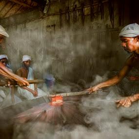 Men at work by Indrawan Ekomurtomo - People Portraits of Men