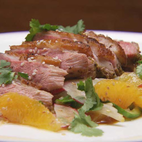 Spiced Duck Breast Salad with Duck and Orange Hoisin Sauce