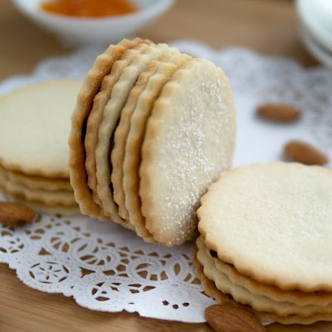 Ischler (Chocolate and Apricot Almond) Cookies