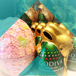 Godiva Chocolate Easter Bunnies by Cheryl Beaudoin - Public Holidays Easter ( godiva, chocolate, easter, store, egg, bunnies )