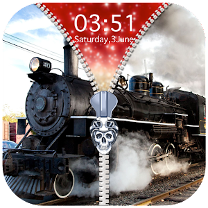 Download Train Zipper Lock Screen for Android