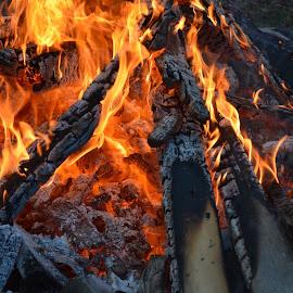 Ablaze by Raymond Earl Eckert - Abstract Fire & Fireworks