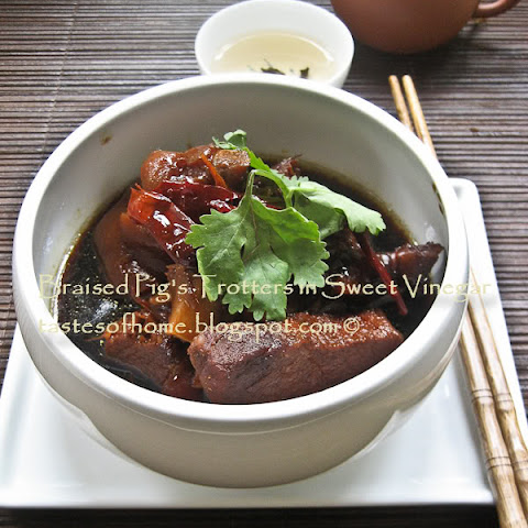 Braised Pig's Trotters in Sweetened Vinegar Recipe (猪脚醋)