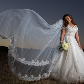 Bride by Julene Muller - Wedding Bride ( sunset, veil, bride,  )