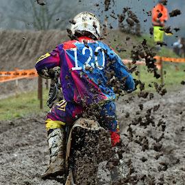 Motocross 5 by Marco Bertamé - Sports & Fitness Motorsports ( bike, rainy, motocross, rear, weather )