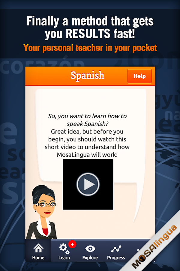 MosaLingua Business Spanish Screenshot 0