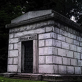 Monument in Glendale Cemetery by Christine B. - Buildings & Architecture Statues & Monuments ( ohio, cemetery, akron, glendale cemetery, monument,  )