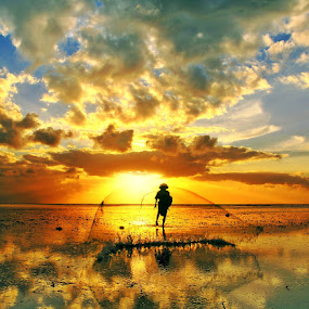 Morning Reflection by Alit  Apriyana - Landscapes Sunsets & Sunrises