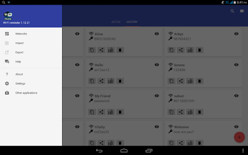 Wi-Fi password reminder for Lollipop - Android 5.0