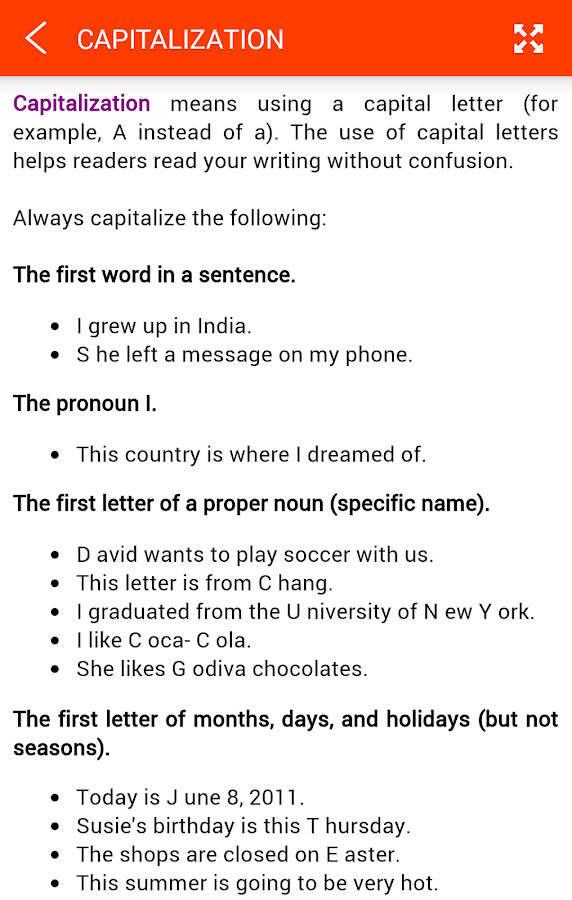 English Grammar Screenshot 4