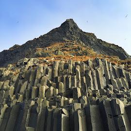 Basalt Columns by Tara Bauman - Nature Up Close Rock & Stone