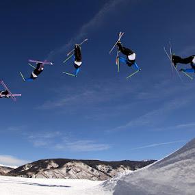 Big Air - Skiing by Tom Cuccio - Sports & Fitness Snow Sports ( skiing, jump, aspen )