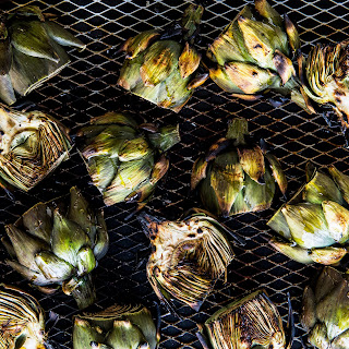 Grilled Baby Artichokes with Aleppo Pepper and Parmesan