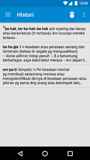 Kamus Bahasa Indonesia screenshot 4