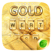 Gold Pro GO Keyboard Theme For PC (Windows And Mac)
