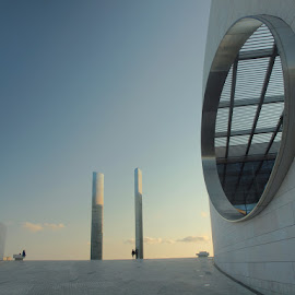 Campalimaud 1 by Francisco Cardoso - Buildings & Architecture Other Exteriors ( sunset, campalimaud, perspective, oval )