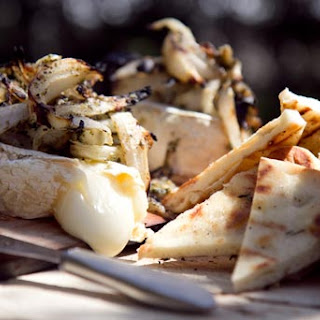 Grilled Naan with Brie Cheese